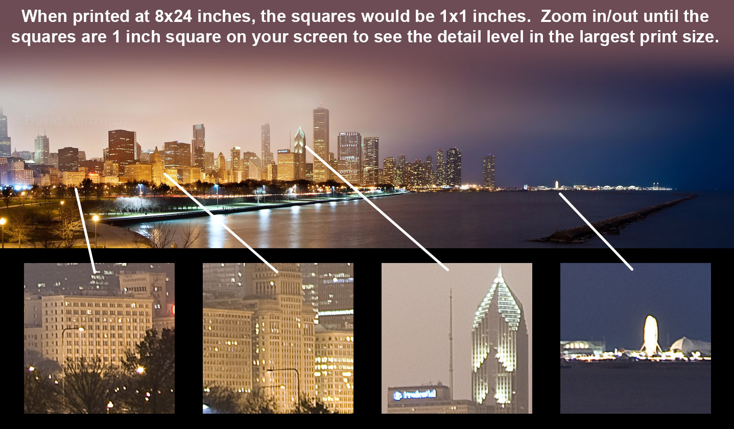 Image showing some zoomed in areas of the photograph to give the viewer an indication of the level of detail in the full sized photograph.